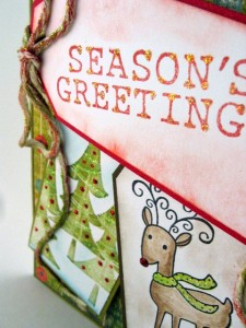 Close-up of reindeer card