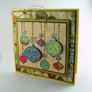 Handmade ornament card