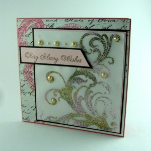 Handmade flourish card