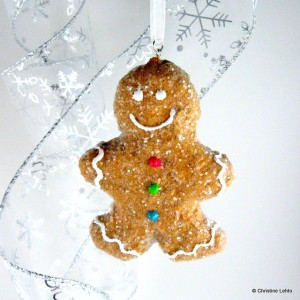 The Gingerbread Boy ornament at Etsy