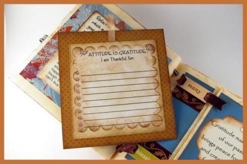 A gratitude journaling card