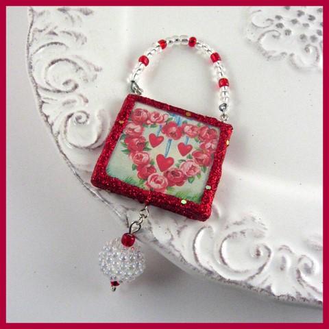 Hearts Valentines Ornament