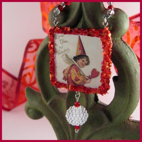 Valentine Clown Ornament