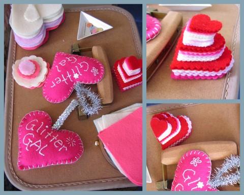 Heart stitching materials