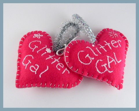Glitter Gal hearts