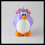 Handmade purple bird ornament