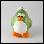 Handmade green bird ornament