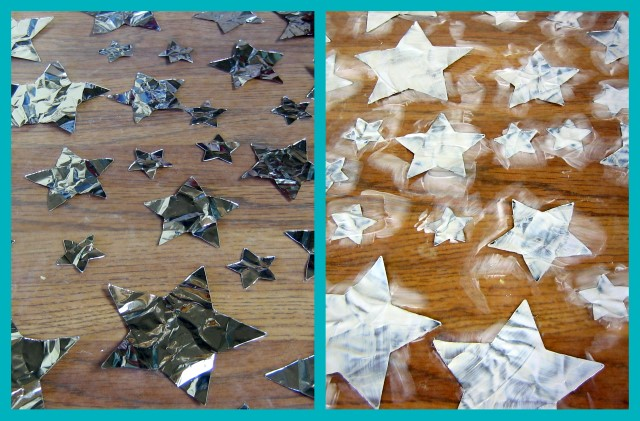 Foil star shapes