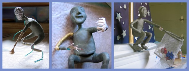 Star Catching Boy sculpture