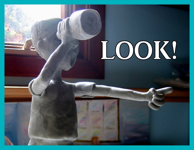 Telescope Boy sculpture