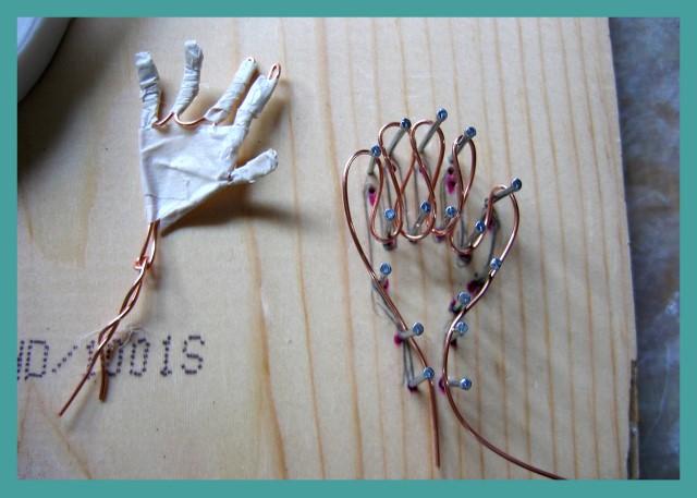 Wire hands