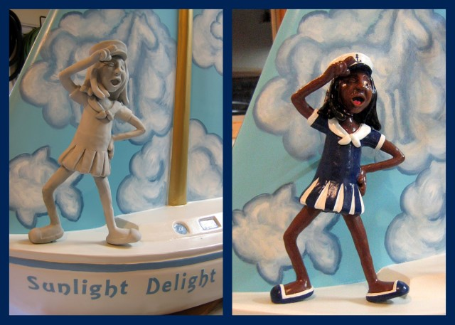Sailor girl sculpture