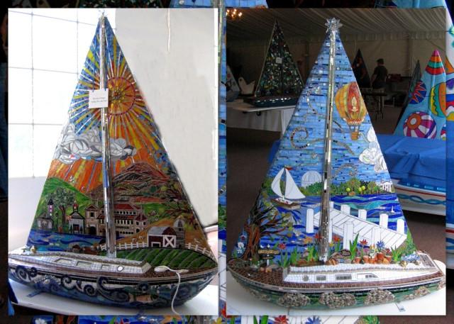 Pat's Glass Mosaic boat
