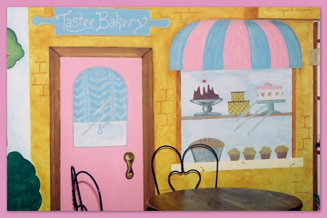 Bakery wall mural