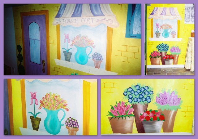 Flower shop window wall mural