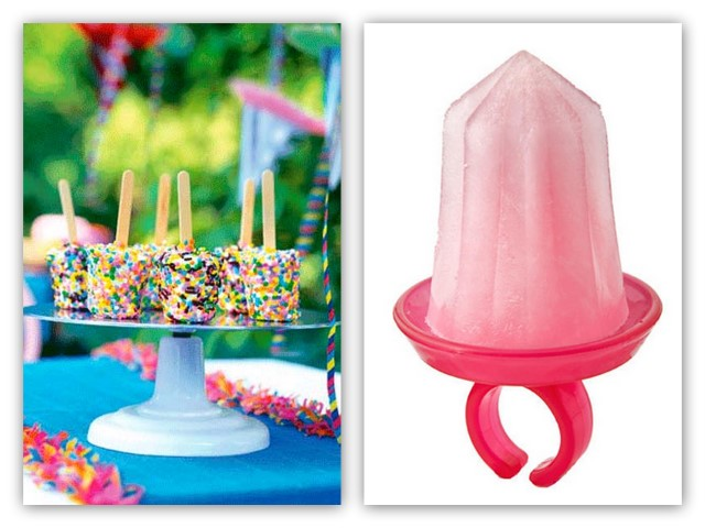 Confetti ice cream pops & jewel pop