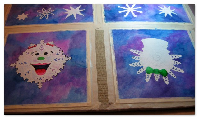 Snowflake characters work in progress
