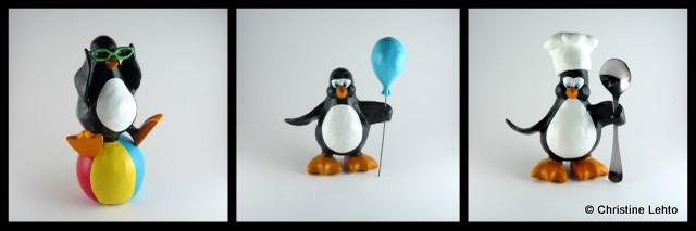 Playful Penguin Sculptures