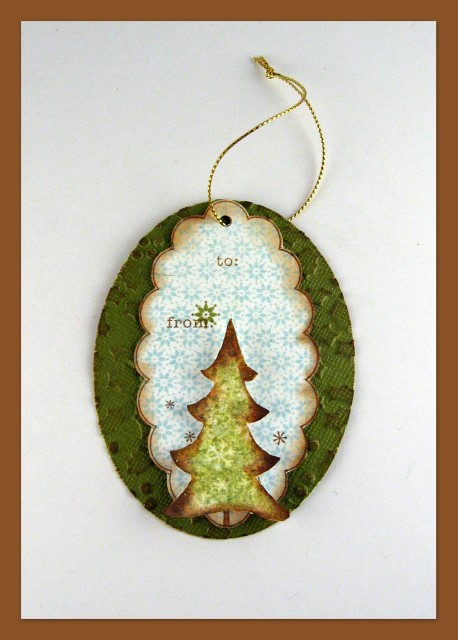 Pretty Handmade Christmas Tree Gift Tag