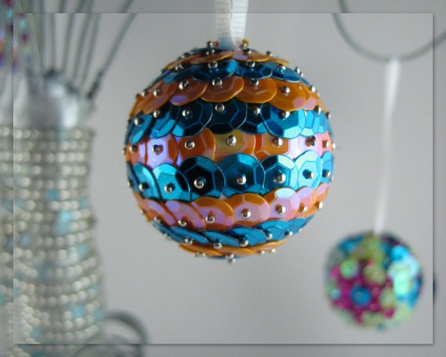 Sparkle ornament that Jordan made