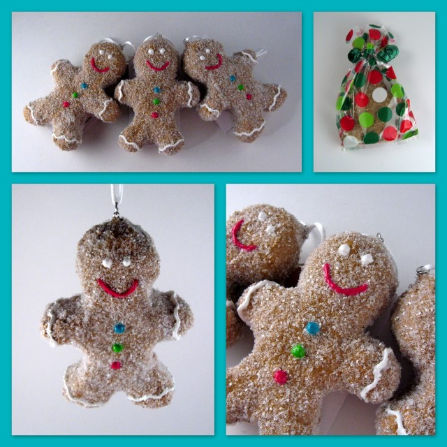 Gingerbread boy ornaments