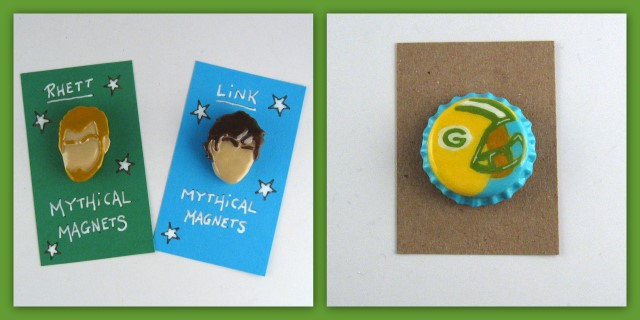 Rhett & Link Mythcial Magnets and Packers magnet