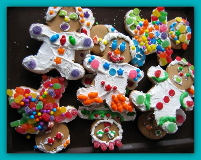 Gingerbread boy decorations