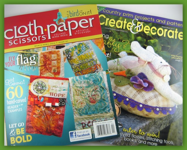 Magazine covers of Clothe Paper Scissors and Create & Decorate