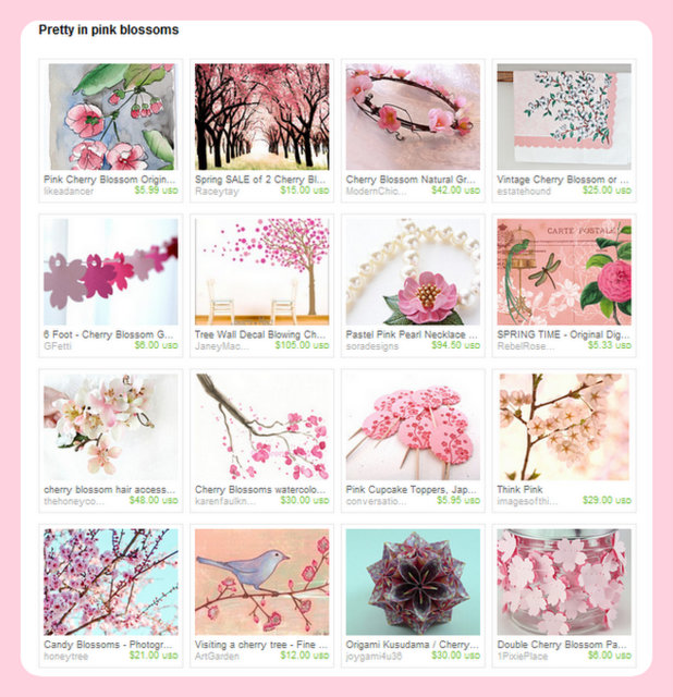 Pretty in Pink Blossoms Etsy Treasury