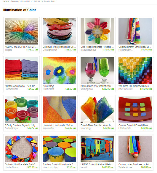 Illumination of Color Treasury on Etsy
