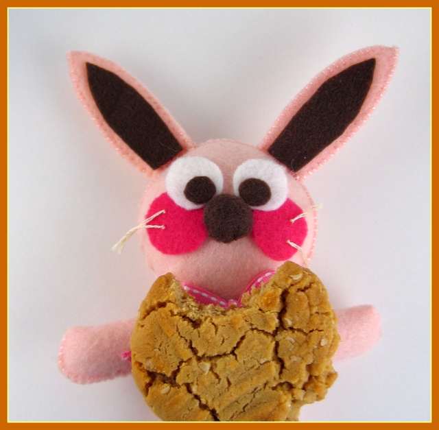 Peanut Butter Cookie recipe & Ralphie the bunny