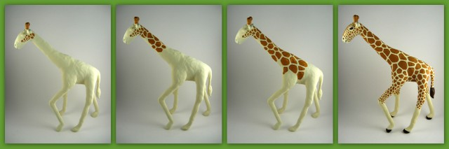 Work in progress look at giraffe's spots