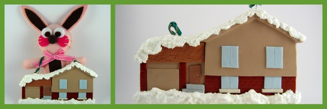 Polymer Clay House ornament