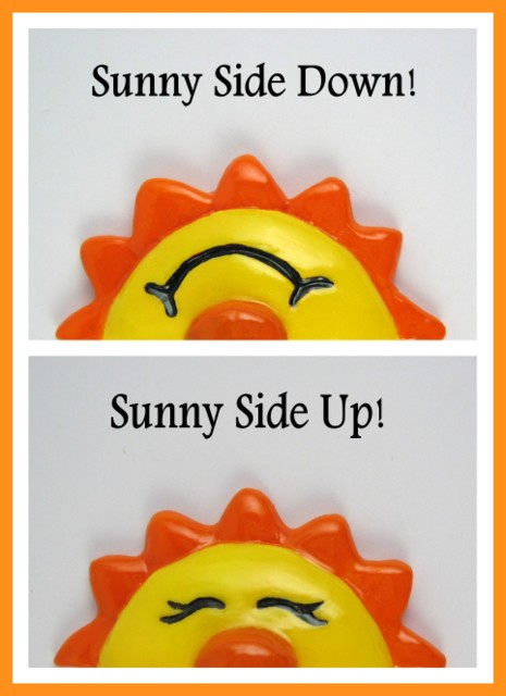 Sunny Side Up and Sunny Side Down Fridge magnets