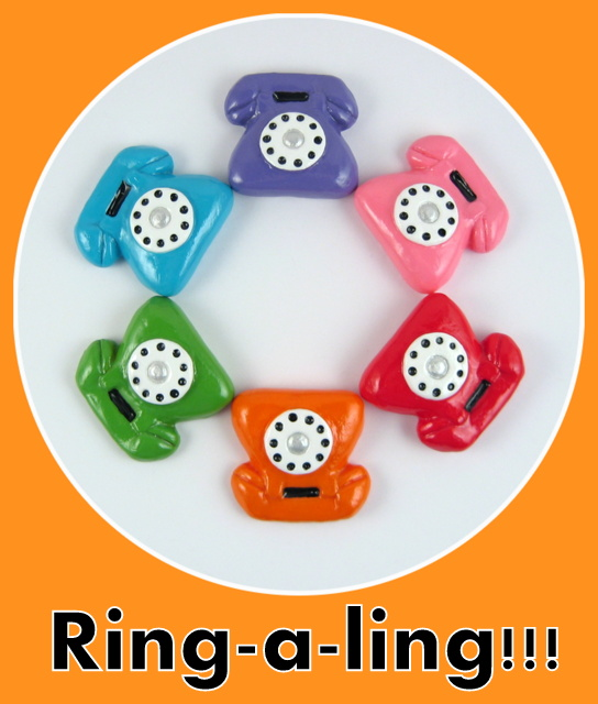 Vibrant Vintage Telephone Fridge magnets