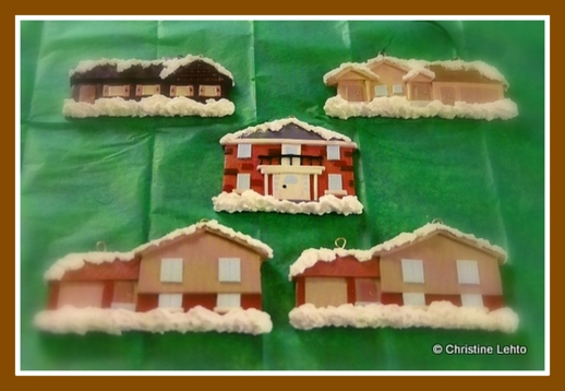 Polymer Clay House Christmas ornaments