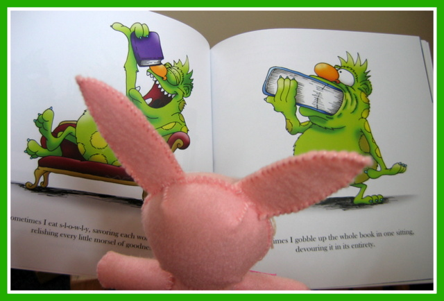 Ralphie reads The Book Monster