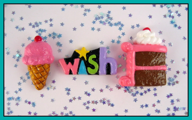 Birthday cake magnets set