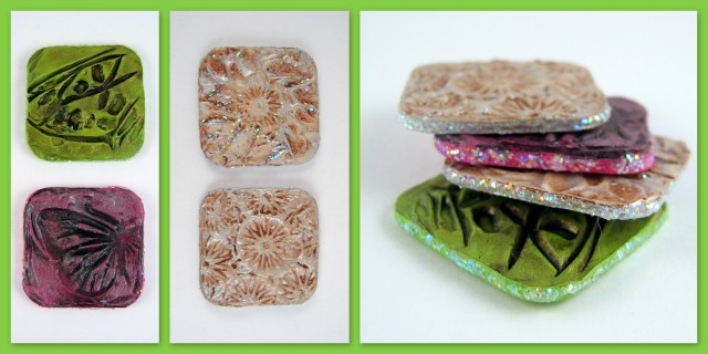 Embossed magnet squares - craft home decor