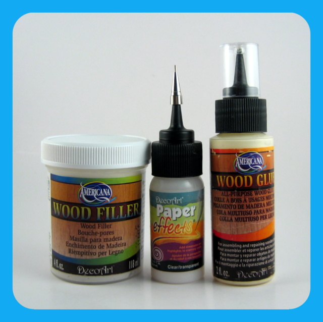 DecoArt Wood Filler, Paper Effects, Wood Glue