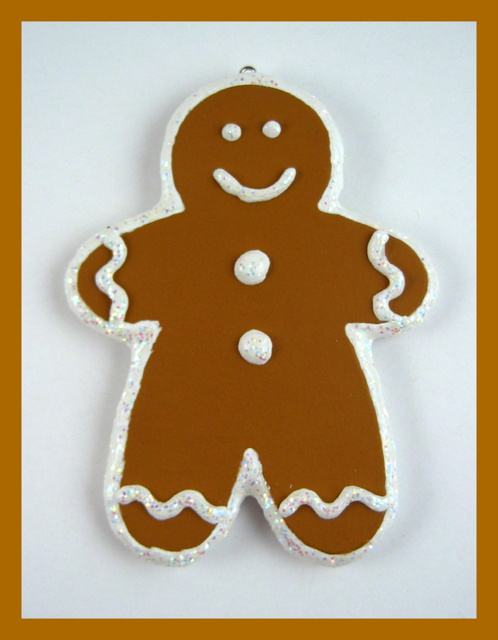 Gingerbread boy handmade ornament