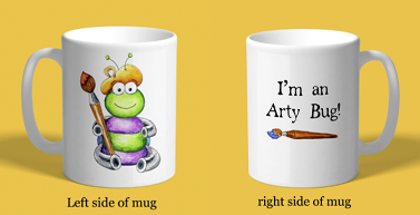 Cute Arty Bug Custom Coffee Mug