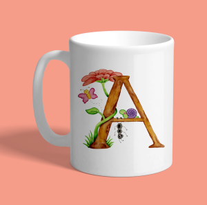 Letter A Cute Coffee Mug