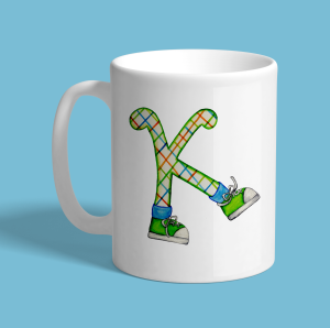 Letter K Sneakers Cute Coffee Mug